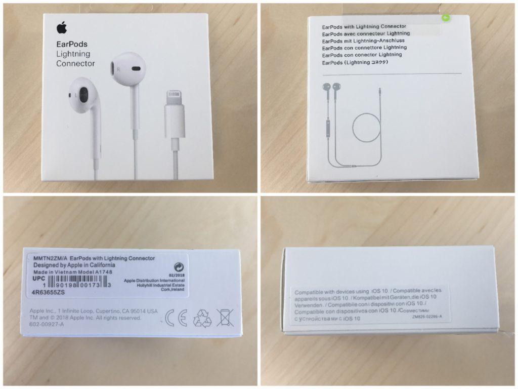 Reconocer auriculares iphone por el embalaje